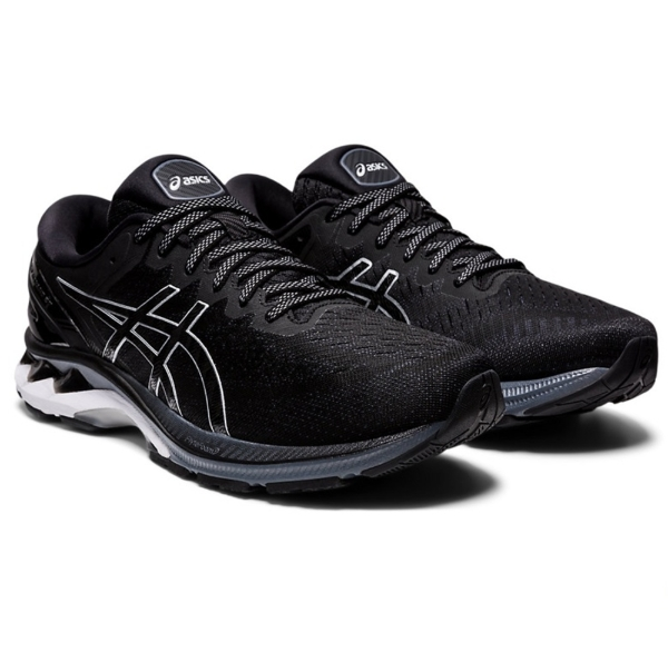 Asics Gel-Kayano 27 (2E) Wide Mens Running Shoes: Black/Pure Silver: US 14    Mike Pawley Sports