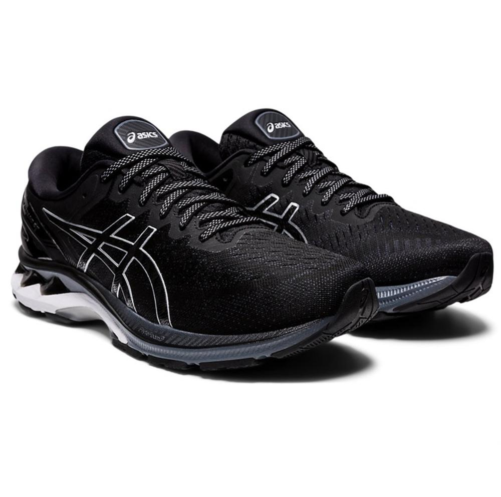 Asics Gel-Kayano 27 (2E) Wide Mens Running Shoes: Black/Pure Silver