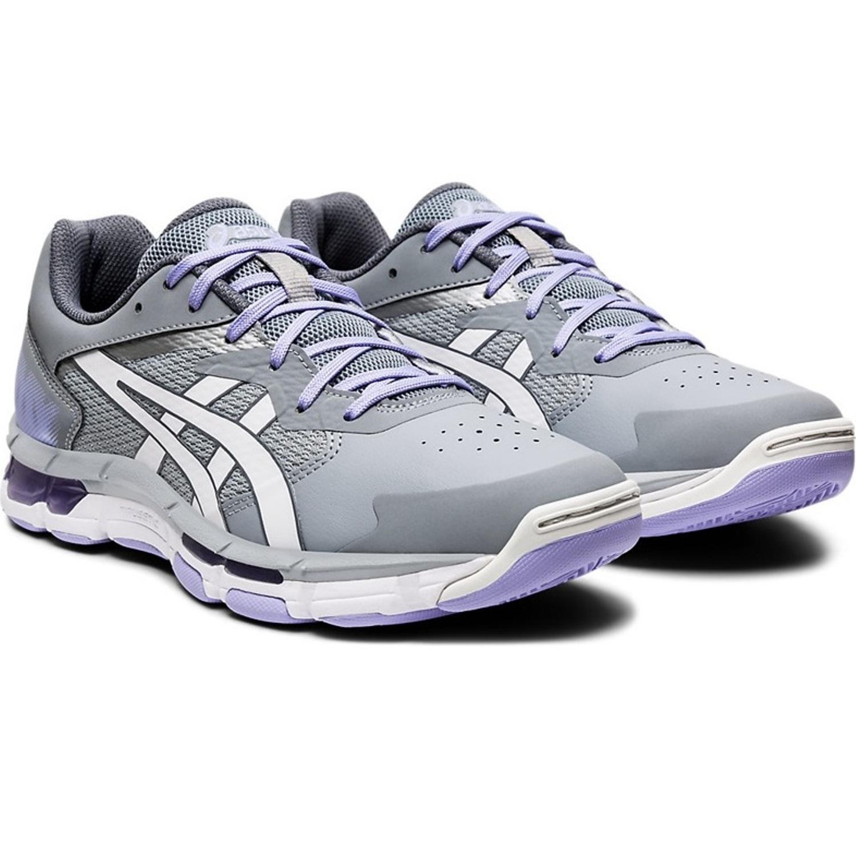 Asics Gel-Netburner Academy 8 Womens Netball Shoes: Carrier Grey/White: US 8