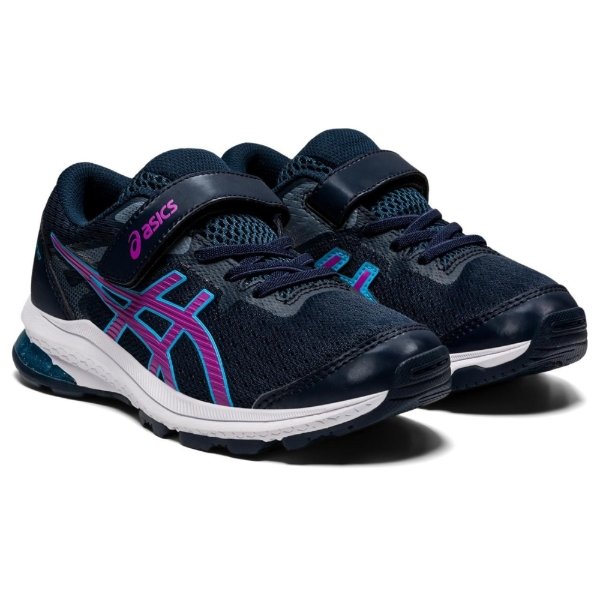 Asics GT-1000 10 PS Girls Running Shoes: French Blue/Digital Grape: US 3