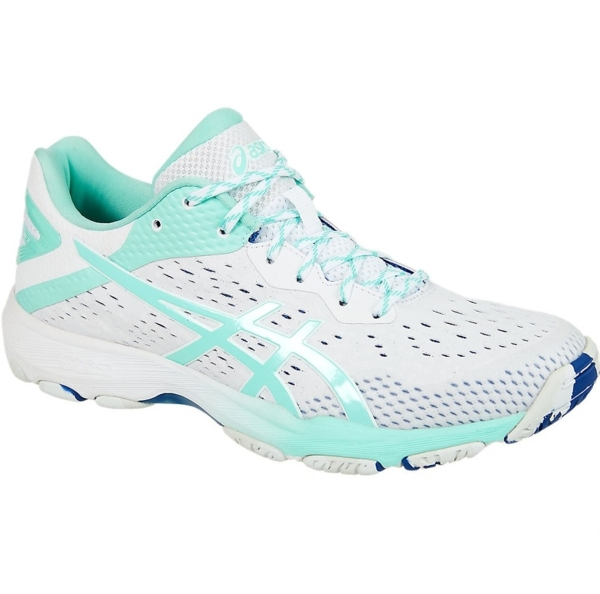 Womens Netball Shoes: White/Fresh Ice