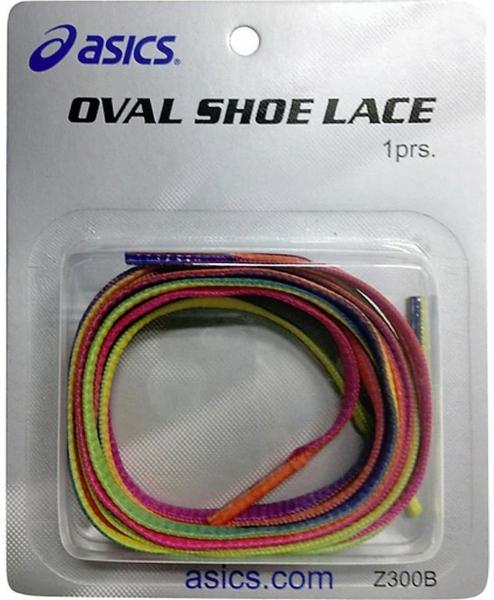 Asics Oval Shoe Laces (Rainbow)