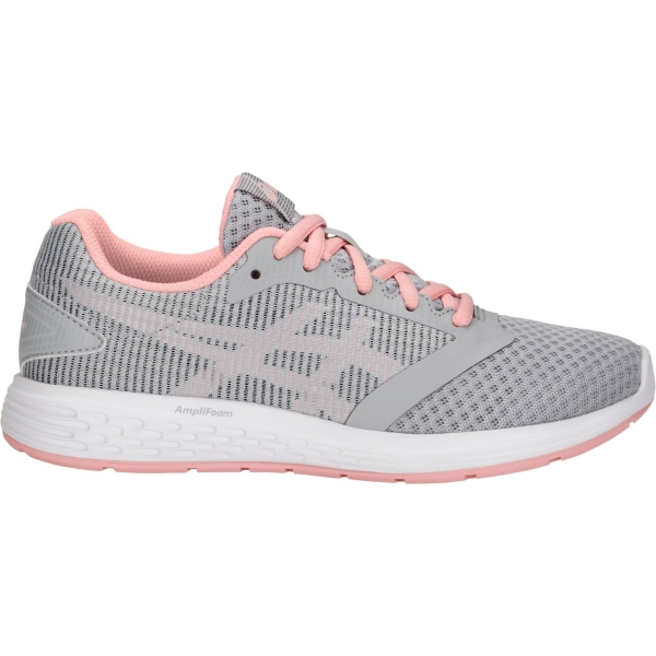 pánico infancia Armario  Asics Patriot 10 GS Girls Running Shoes: Black/Pink Cameo: US 7 | Mike  Pawley Sports