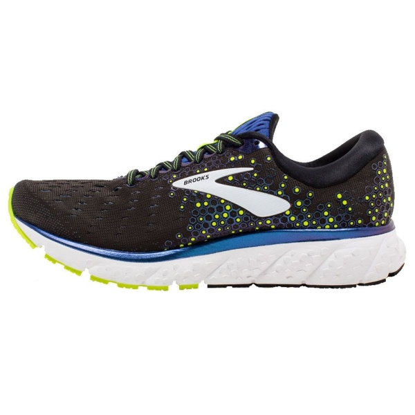 Brooks Glycerin 17 2e Wide Mens Running Shoes Black Blue Nightlife Mike Pawley Sports